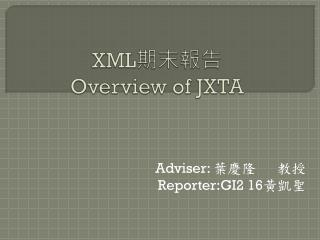 XML 期末報告 Overview of JXTA