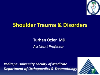 Shoulder Trauma & Disorders