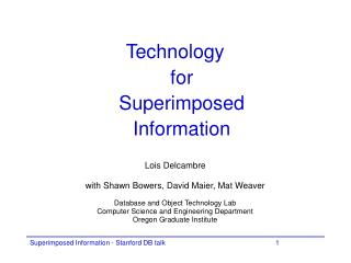 Technology  for  Superimposed Information