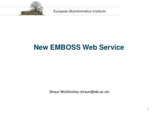 New EMBOSS Web Service