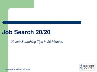 Job Search 20/20