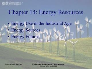 Chapter 14: Energy Resources