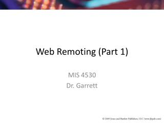 Web Remoting (Part 1)
