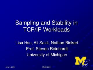 Sampling and Stability in TCP/IP Workloads