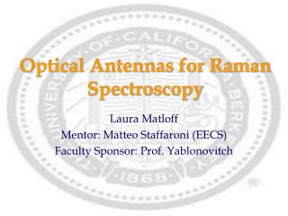 Optical Antennas for Raman Spectroscopy