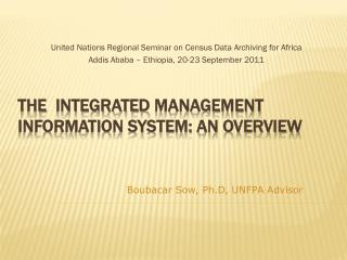 The   integratED  Management Information System: An overview