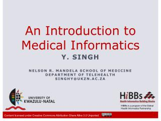 An Introduction to  Medical Informatics
