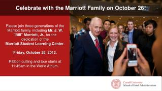 Celebrate with the Marriott Family on October 26!