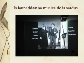 Is launeddas: sa musica de is sardus