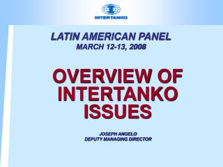 LATIN AMERICAN PANEL  MARCH 12-13, 2008