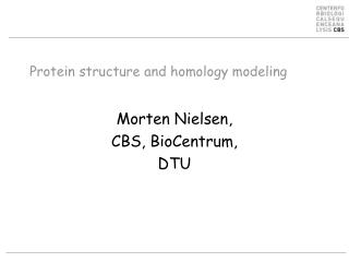 Protein structure and homology modeling