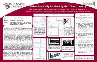 Metabolomics By Ion Mobility Mass Spectrometry