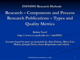 INFO5993 Research Methods