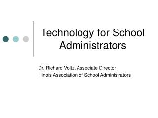 Technology for School Administrators