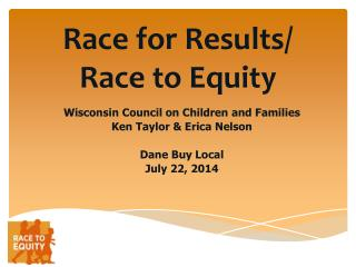 Race for Results/ Race to Equity