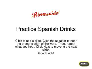 Practice Spanish Drinks