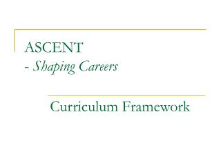 ASCENT -  Shaping Careers