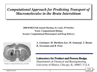 2008 BMES Fall Annual Meeting, St. Louis, 4 th  October Track: Computational Biology