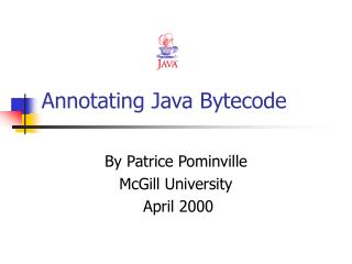 Annotating Java Bytecode