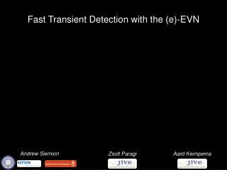Fast Transient Detection with the (e)-EVN