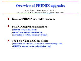 Overview of PHENIX upgrades