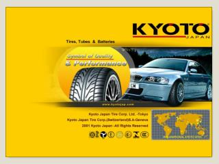 A Presentation of  Kyoto Japan Tire Group