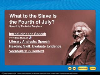 What to the Slave Is  the Fourth of July? Speech by Frederick Douglass