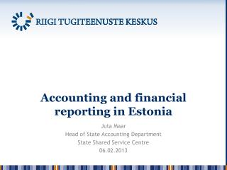 Accounting and financial reporting in Estonia