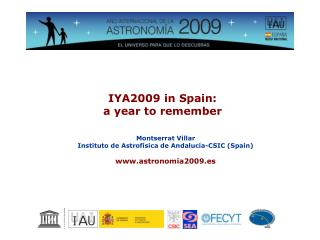 IYA2009 in Spain: a year to remember