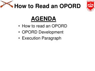How to Read an OPORD