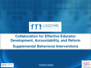 School-wide Positive Behavior Support  Reform