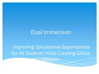 Definition of a Dual Immersion Program