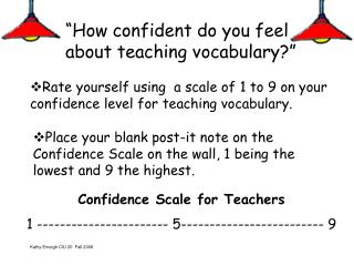 """How confident do you feel about teaching vocabulary?"""