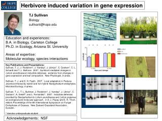 Herbivore induced variation in gene expression