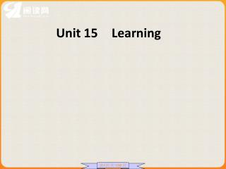 Unit 15 Learning