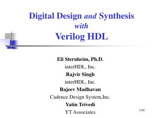 Digital Design and Synthesis with Verilog HDL