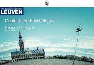 Master  in de Psychologie