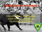EMERGENCIAS TAURINAS
