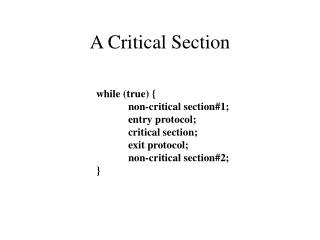 A Critical Section