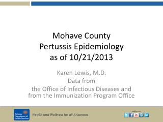Mohave County  Pertussis Epidemiology as of 10/21/2013