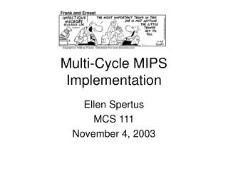 Multi-Cycle MIPS  Implementation
