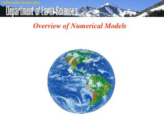 Overview of Numerical Models