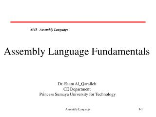 4345   Assembly Language