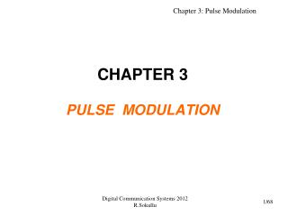 CHAPTER 3 PULSE  MODULATION