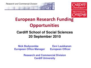 European Research Funding Opportunities