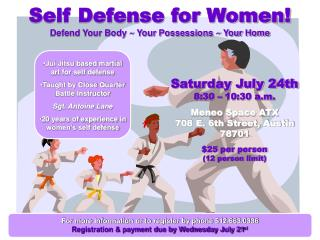 Self Defense for Women! Defend Your Body ~ Your Possessions ~ Your Home