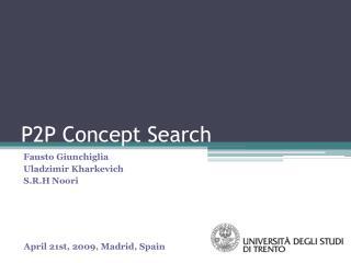 P2P Concept Search