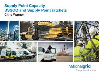 Supply Point Capacity BSSOQ and Supply Point ratchets