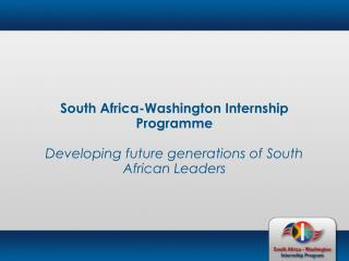 South Africa-Washington Internship Programme