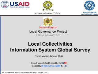 Local Collectivities  Information System Global Survey